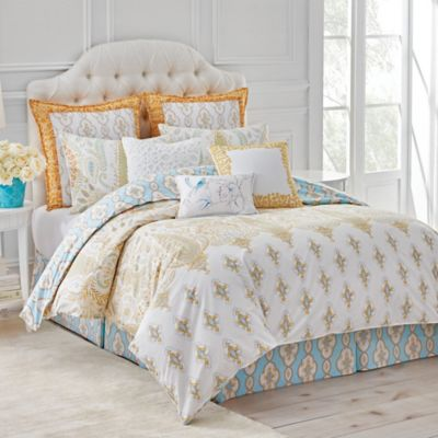 Dena Home Dream Reversible Comforter Set In White Blue