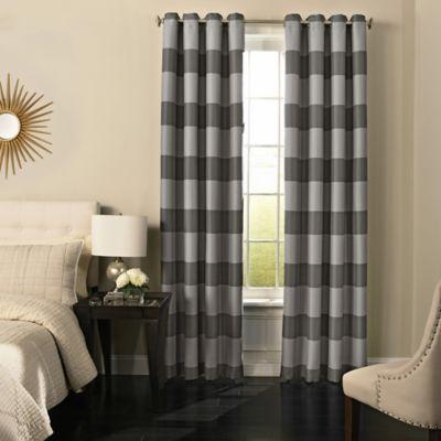 BeautyrestR Gaultier 95 Inch Grommeted Blackout Window Curtain Panel In Grey