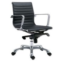 Moe's Home Collection Omega Low-Back Office Chair in Black (Set of 2)