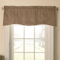 Beautyrest® Barou Rod Pocket Scalloped Valance in Taupe