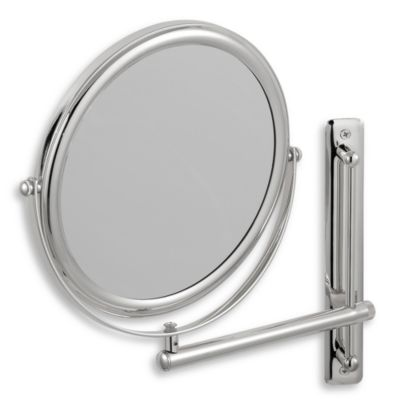 Wall Mount Magnifying Mirror buy chrome wall mount mirrors from bed bath & beyond