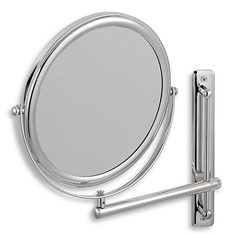 chrome bathroom mirrors buy jerdon 3x 1x chrome finished wall mount mirror from 12326
