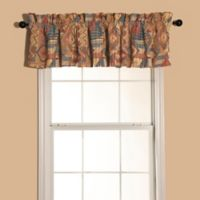 HiEnd Accents Ruidoso Window Valance in Turquoise