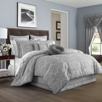 J. Queen New York™ Colette California King Comforter Set in Silver