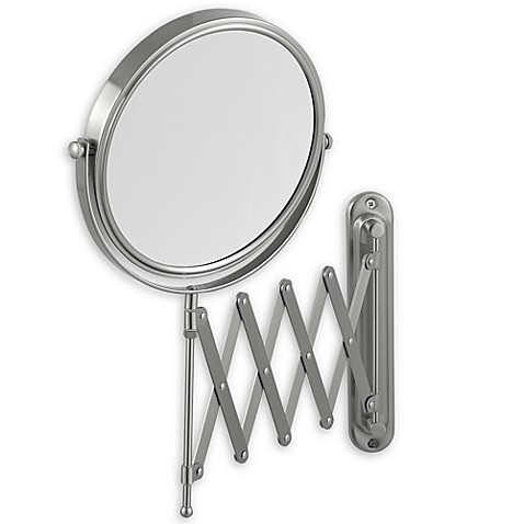 Jerdon 7x 1x Wall Mount 20 Inch Extension Mirror Bed