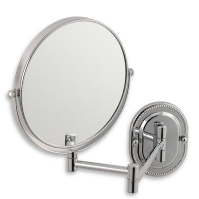 Jerdon 7X 1X Chrome Finished Wall Mount Mirror