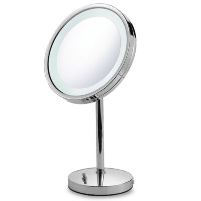 Buy Jerdon Tri Fold Lighted Magnification Mirror From Bed Bath Amp Beyond