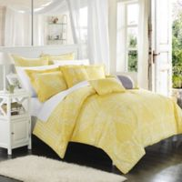 Chic Home Parma 8-Piece Reversible Queen Comforter Set in Yellow