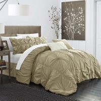 Chic Home Hilton 6-Piece King Comforter Set in Taupe