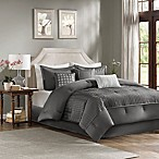 Madison Park Trinity 7-Piece Reversible King Comforter Set in Grey