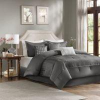 Madison Park Trinity Reversible California King Comforter Set in Grey