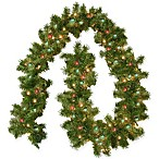 Montana 9-Foot Pre-Lit Artificial Garland with Multicolor Lights