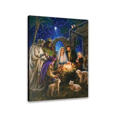Holiday Fiber Optic Away In A Manger Wall Décor With Remote