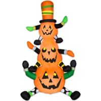 Outdoor Inflatable Animated Whimsy Pumpkin Stack