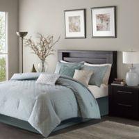Madison Park Biloxi Reversible 7-Piece California King Comforter Set in Blue