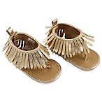 Rising Star™ Size 3-6M Girls Fringe Sandal in Gold