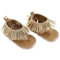 Rising Star™ Size 9-12M Girls Fringe Sandal in Gold