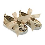 Rising Star™ Size 6-9M Glitter Sneaker in Gold