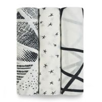 aden + anais® Silky Soft 3-Pack Muslin Swaddles in Midnight