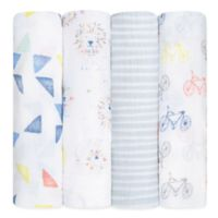 aden + anais® Leader of the Pack Cotton 4-Pack Swaddle Blanket