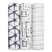 aden + anais® 3-Pack Shibori Muslin Swaddle Blanket Set in Pebble