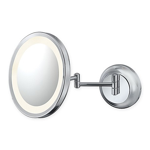 young 5x lighted makeup mirror in chrome from bed bath beyond. Black Bedroom Furniture Sets. Home Design Ideas