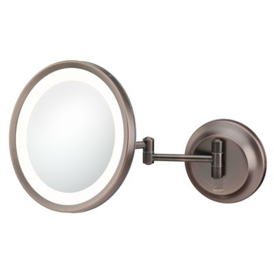 Buy wall mount makeup mirror from bed bath beyond kimball young 5x lighted makeup mirror in bronze aloadofball Gallery