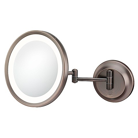 Buy Kimball & Young 5x Lighted Makeup Mirror in Bronze ...