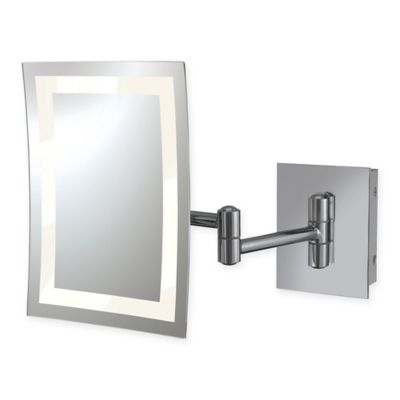 kimball young rectangular 3x led wall mirror in chrome