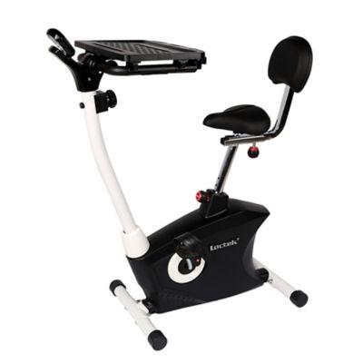 upright workstation exercise bike in black