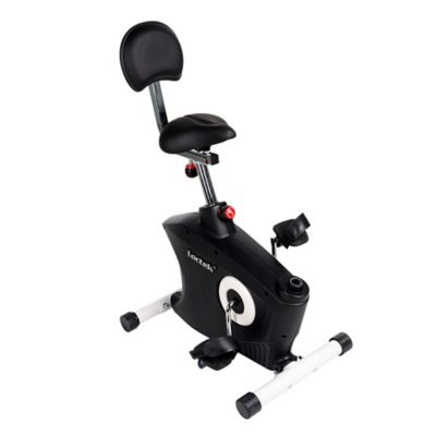 underdesk exercise bike in black