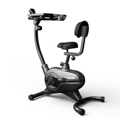 upright workstation exercise bike in grey