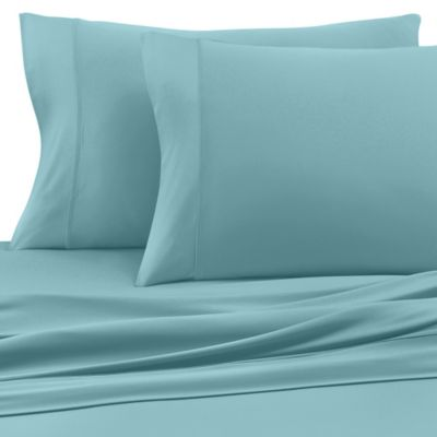 buy sheex luxury copper performance california king sheet set in aqua from bed bath beyond. Black Bedroom Furniture Sets. Home Design Ideas