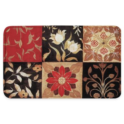 Medallion Red Rug Calm Chef Mat