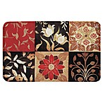 Home Dynamix Calm Chef Medallion Kitchen Mat in Red