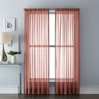 Wamsutta® Sheer 84-Inch Window Curtain Panel in Brick