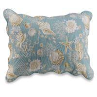 Natural Shells Standard Pillow Sham in Blue/Beige