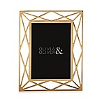 Olivia & Oliver Mila 5-Inch x 7-Inch Picture Frame in Gold