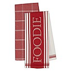 Gourmet Kitchen Towels in Tomato Red (Set of 4)