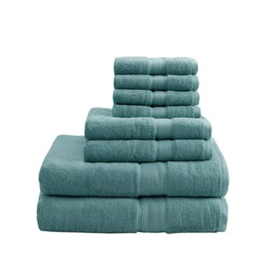 madison park 8piece cotton towel set in dusty green