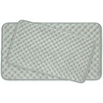 Bounce Comfort Massage Memory Foam 2-Piece Bath Mat Set in Light Grey