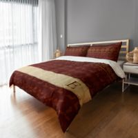 Rustic Holiday King Duvet Cover in Red/Beige