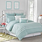 Jill Rosenwald Capri Stripe Seaside King Comforter Set in Aqua