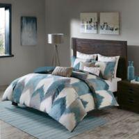 INK+IVY Alpine Full/Queen Comforter Set in Aqua