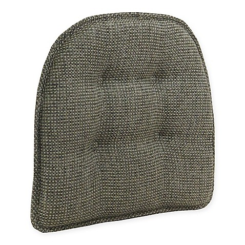 Tufted Grassland Chair Pad In Smoke With Gripper 174 Bed