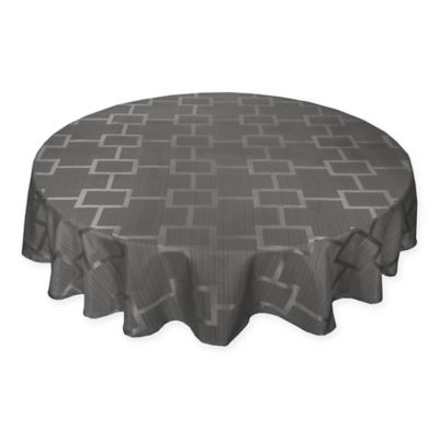 Origins™ Tribeca Microfiber 60 Inch X 84 Inch Oval Tablecloth In Charcoal