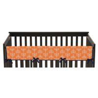 Sweet Jojo Designs Arrow Long Crib Rail Guard Cover in Orange/Navy