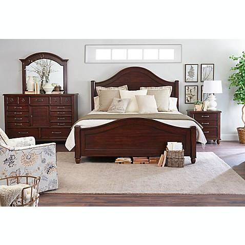 Klaussner Blue Ridge 4 Piece Bedroom Set In Cherry Bed
