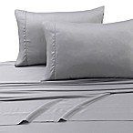 Tribeca Living 300-Thread-Count Tencel Extra Deep Pocket Queen Sheet Set in Silver Grey