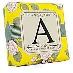 "Gianna Rose Atelier® 5 oz. Block Letter ""A"" Monogram Bar Soap in Yellow"